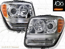 07-11 DODGE NITRO CCFL HALO CLEAR PROJECTOR HEADLIGHTS AMBER LED