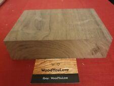 🍁 Hardwood Walnut Off Cut Block L 14.5 cm x W 20.2 cm x D 5.4 cm  (2125 W6)