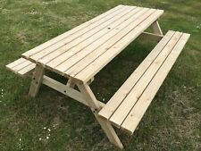 4ft WOODEN PICNIC TABLE IN NATURAL ,COMMERCIAL GRADE - PRESSURE TREATED, STRONG