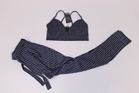 Nasty Gal Women's Set Em Straight Pinstripe Crop Top & Pants LL1 Navy US:6 UK:10