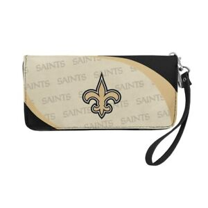 New Orleans Saints Ladies Women's Curved Zipped Wallet Organizer Shell NWT