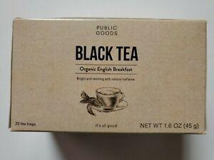 Public Goods Black Tea Organic English Breakfast 20 tea bags