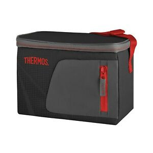 100% Genuine! THERMOS Radiance 6 Can Cooler Black with Red Trim!