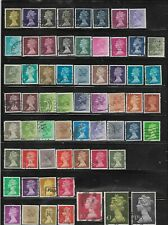80 Used Great Britain Machin Stamps