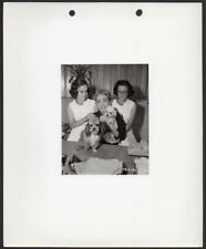 JOAN CRAWFORD w. Twin Daughters and poodle dogs VINTAGE ORIG PHOTO