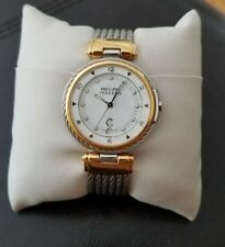 Authentic Philippe Charriol Stainless Steel 5 Cable Quartz Swiss Movement Watch