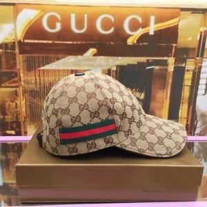 NEW GUCCI HAT Khaki,CANVAS BASEBALL CAP,ADJUSTABLE,SIZE M
