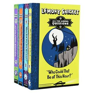 Lemony Snicket All The Wrong Questions 4 Books Collection - Ages 7-9 - Paperback