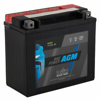 intAct YTX20L-BS Maintenance Free AGM Bike-Power Battery