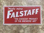 Vintage 1960's Falstaff Beer Metal Advertising Sign