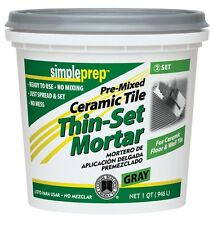 Simpleset Thin Set Mortar No-Mix Gray Qt
