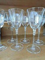 6 Weingläser mit Goldrand festlich SPIEGELAU 21 cm hoch