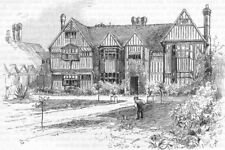 LONDON. Southall Manor House 1888 old antique vintage print picture