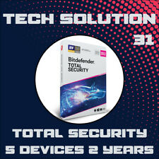 Bitdefender Total Security 2020 5 Devices 2 Years + Support + Proof of Genuine