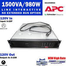 APC SUA1500RM2U Smart-UPS 1500VA/980W USB & Serial RM 2U 120V *New Batt