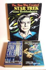 1990s Star Trek Gene Roddenberry Star Trek Biography Reference Book Set of 3