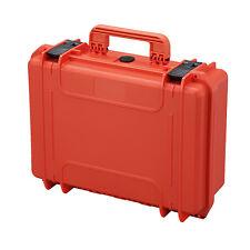 Waterproof Protective Gear Tool DIY IP67 Hard Case Box MAX430 w/ Foam Orange NEW