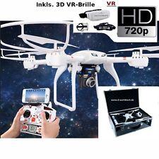 FPV Wifi 3D Drohne/Copter Alukoffer HD Livebild Kam C4018+3D VR-Brille +3x Akku