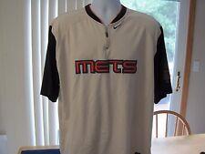 New York Mets Nike Quarter Zip Adult Large Pullover Baseball Jersey Sewn Logos