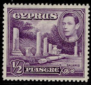 CYPRUS GVI SG152a, ½pi violet, NH MINT.