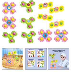 Baby Fat Brain Toys Suction Cup Spinning Top Toy Creative Turntable Bathing