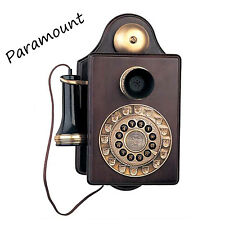 Paramount Replica Antique Wall Wood Vintage Old Style Phone Telehone Bell 1903