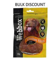 Webbox Dog Treat Chicken Fillets Organic Healthy Meat Pet Food 100G Brand New