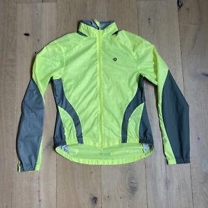Pearl Izumi Womens Sz S Jacket Cycling Neon Bright Long Sleeve Full Zip Bike Run