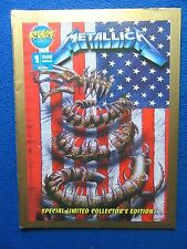 ~~ METALLICA #1 SPECIAL LIMITED GOLD EDITION ~ ROCK-IT COMIX ~ 1993 ~~