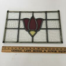 Antique Stained Glass Window Hanging  Textured Pattern Stain Glass Floral Design