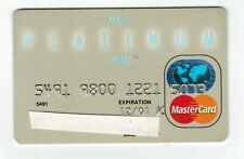 Platinum MBNA MasterCard Credit Card - GREAT condition - 2001 CANADIAN card