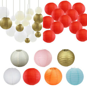 12 PCs Round Paper Lanterns Lantern Lamp Shade Wedding Birthday Christmas Party