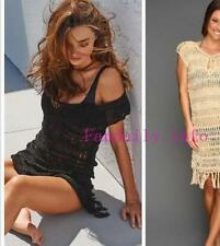 MELISSA ODABASH Miranda Kerr black Crochet Kaftan S US2-4, UK6-8, BNWT dress