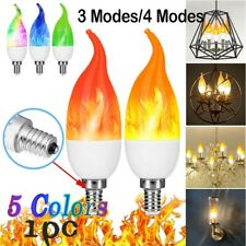 2 Pack LED Flame Bulb 4 Mode LED Flicker Nature Bulbs Light Decor E27 Lamp Blue