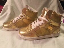 Dance Competition Pastry Glam Pie Glitter Women's Sneaker Gold Size 5 NWOB