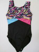 NEW Dance Gymnastics Leotard Size 4-5-6  XS SC Girls Small Child Metallic Foil