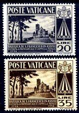 VATICANO 1954 - BASILICA DI ASSISI  SERIE NUOVA **