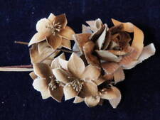 "Vintage Millinery Flower Collection 2 1/2 -3"" Brown Tan Beige Velvet H1892"