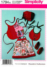 Simplicity Sewing Pattern 1794 Baby girl clothes Dress Bib Hat Booties XXS-L