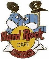 """Hard Rock Cafe ANKARA 1998 Blue DRUM Set Kit PIN DRUMS HRC Catalog #289 """"CHINA"""""""