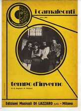 SC3 SPARTITO TEMPO D'INVERNO I CAMALEONTI - Canto/Mandolino/Fisa 1972