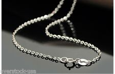 J.Lee 15.7INCH Solid 18K White Gold Necklace Classic O Link Chain Necklace