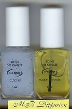 LOT DE 2 VERNIS SOIN DES ONGLES - CUTICULE & HUILE FORTIFIANTE - 2X14ML COSMOD