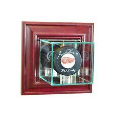 Wall Mounted Single Hockey Puck Glass Display Case NHL UV FREE SHIPPING