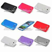 S-line TPU Gel Rubber Silicone Case Cover for LG Optimus G Pro E980 +LCD Film