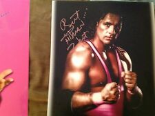 Bret The Hitman Hart Autographed 11x14 Spotlight Glossy Photo JSA  WWE WWF