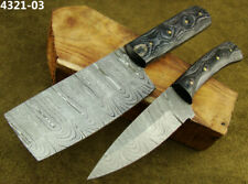 Alistar Set of 2 Handmade Damascus Knife Hunting, Kitchen/Chef's Knives (4321-3