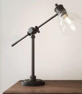 "Hampton Bay Adjustable Height 18"" Oil Rubbed Bronze Counter Balance Desk Lamp"