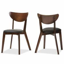 Hawthorne Collection Wooden Dining Chair in Dark Walnut (Set of 2)
