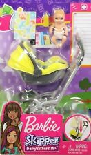 Barbie Skipper Babysitter Baby Doll Yellow Stroller A Removable Seat Playset NEW